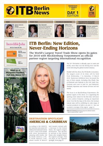 ITB Berlin News 2018 - Day 1 Edition