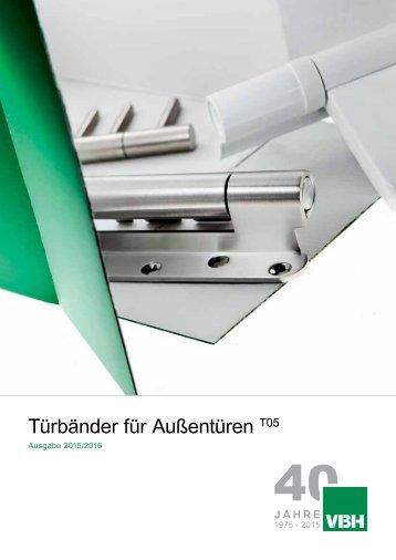 T05 Türbänder für Außentüren 2015