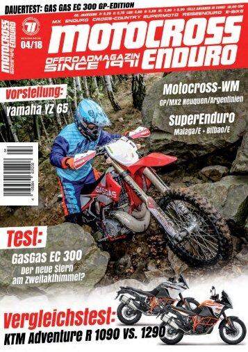 Motocross Enduro Ausgabe 04/2018