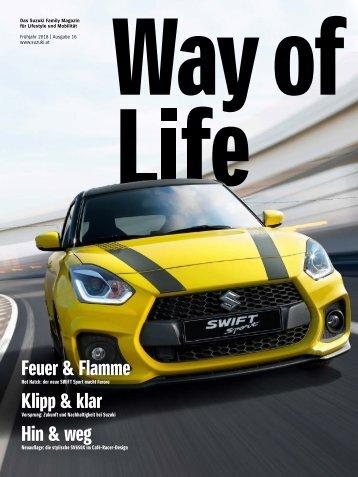 Suzuki Way of Life Magazin Frühling 2018