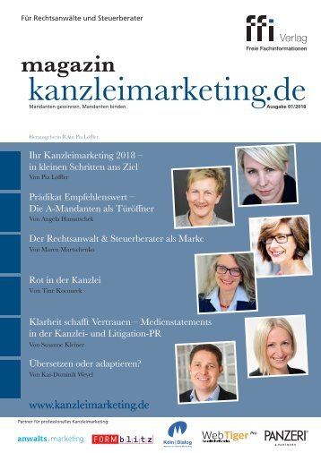 eMagazin kanzleimarketing.de 01/2018