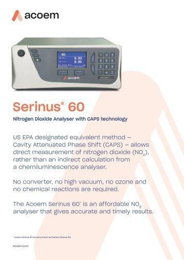 ECOTECH Serinus 60 spec sheet