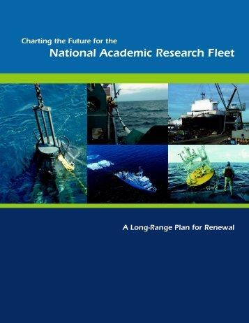 National Academic Research Fleet - Geo Prose
