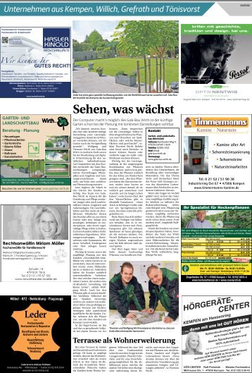 Unternehmen aus Kempen, Willich, Grefrath und Tönisvorst  -21.03.2018-