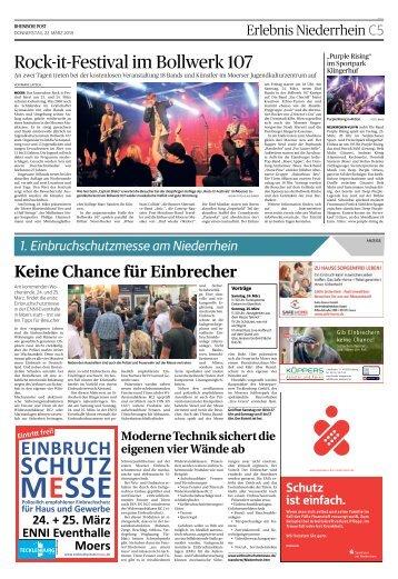 1. Einbruchschutzmesse am Niederrhein -22.03.2018-