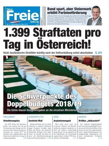 1.399 Straftaten pro Tag in Österreich