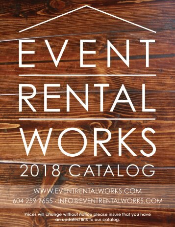Event Rental Works Catalog 2018