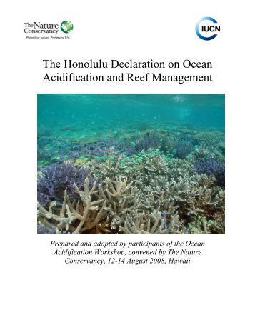 coral reefs under rapid climate change and ocean acidification pdf