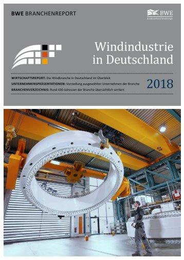 BWE Branchenreport - Windindustrie in Deutschland 2018