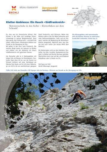 Tourentipp 04.20118 - Kletter-Ambience: Ein Hauch «Südfrankreich»