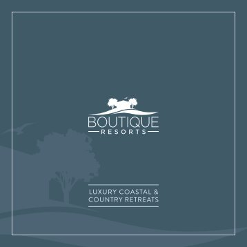 Boutique Resorts Brochure - 2018