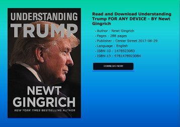 Read and Download Understanding Trump FOR ANY DEVICE - BY Newt Gingrich