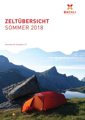 Zeltsortiment Sommer 2018