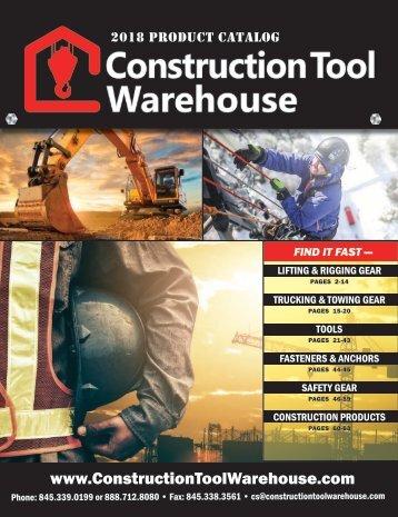2018 Construction Tool Warehouse Catalog
