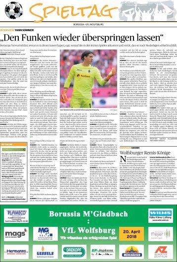 Spieltag: Borussia - VFL Wolfsburg  -20.04.2018-