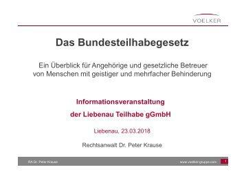 Liebenau Teilhabe - Vortrag Bundesteilhabegesetz März 2018