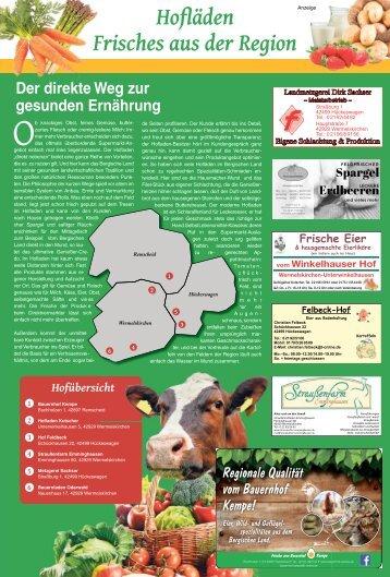 Hofläden - Frisches aus der Region  -25.04.2018-