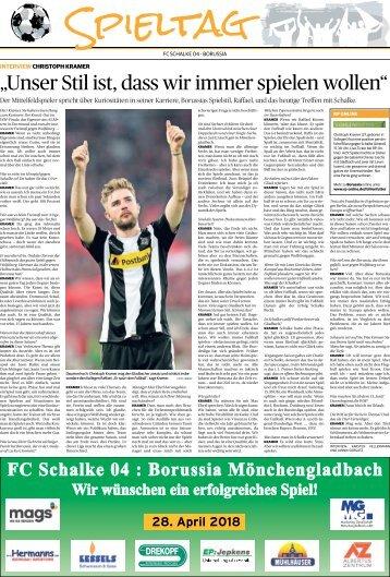 Spieltag: FC Schalke 04 - Borussia  -28.04.2018-