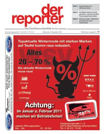 der reporter - Das Familienwochenblatt für Plön und Preetz 2010 KW 49