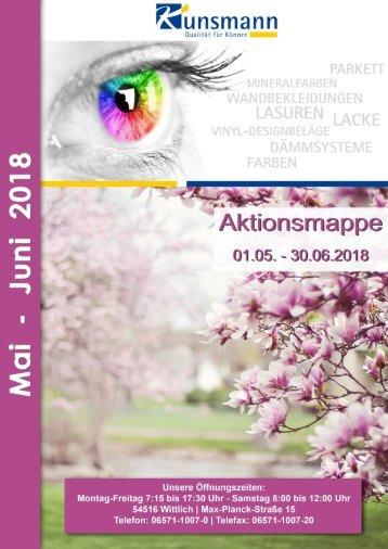 Aktionsmappe Mai - Juni 2018