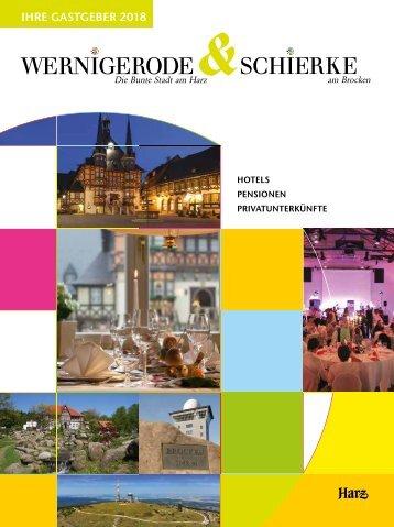 Gastgeberverzeichnis Wernigerode & Schierke 2018