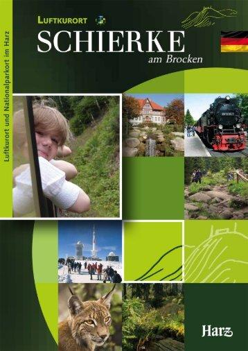 Imagefaltblatt Schierke (deutsch)