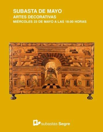 Subasta artes decorativas Mayo 2018