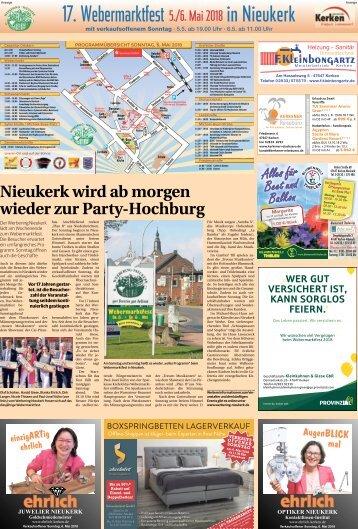 17. Webermarktfest in Nieukerk  -04.05.2018-
