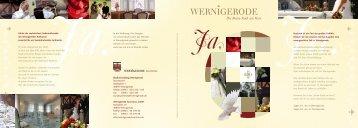 Broschüre Hochzeitsstadt Wernigerode