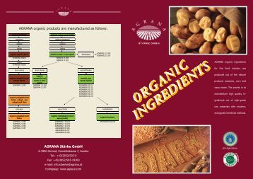 ORGANIC INGREDIENTS ORGANIC INGREDIENTS ... - Agrana