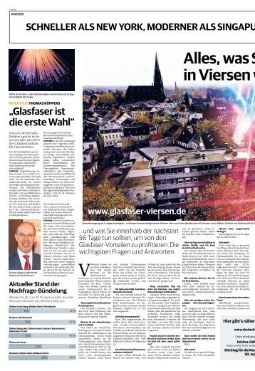Glasfaserausbau in Viersen  -05.05.2018-