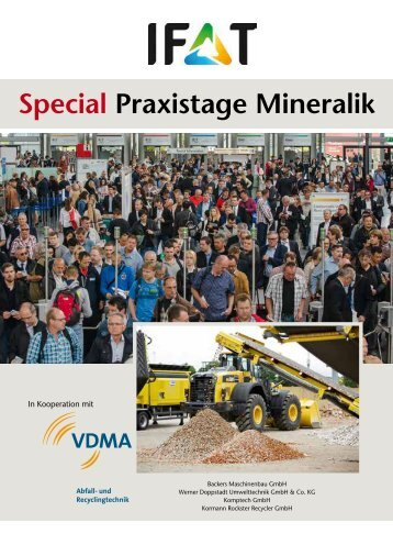 IFAT Special Praxistage Mineralik