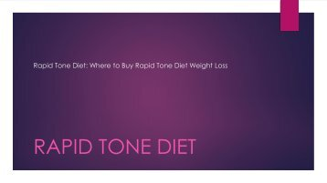 Rapid Tone Diet: Where to Buy Rapid Tone Diet for Weight loss