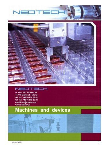 list of devices included in catalogue - neotech