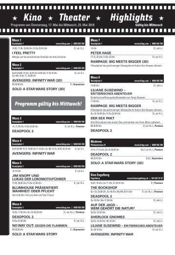 Kino KW 20 / 17.05.18