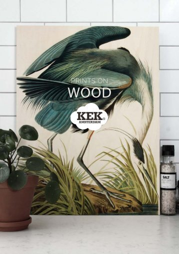 KEK Amsterdam Katalog 'Prints on wood' 2018