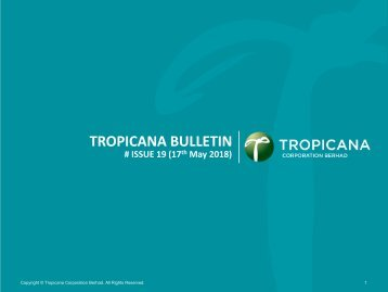 Tropicana Bulletin Issue 19