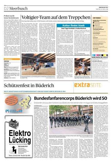 Schützenfest in Büderich  -18.05.2018-