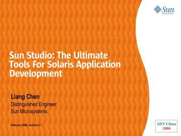 Sun Studio: The Ultimate Tools For Solaris Application Development