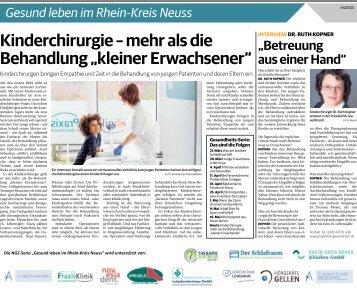 Gesund leben im Rhein-Kreis Neuss  23.05.2018-