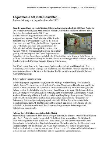 Informationen BVL - Bundesverband Legasthenie und Dyskalkulie eV