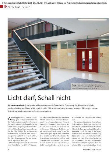 Licht darf, Schall nicht - Feco Innenausbausysteme GmbH