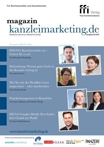 eMagazin kanzleimarketing.de 02/2018