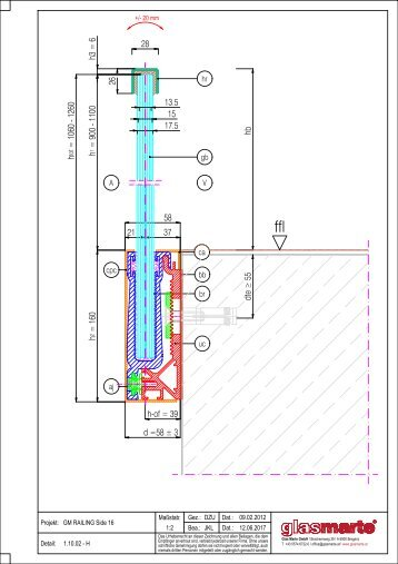 GM RAILING SIDE 16 - Detailzeichnung