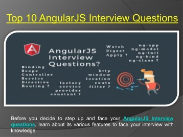 Top AngularJS Interview Questions 2018