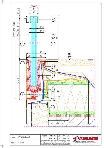 GM RAILING SOLO YT 20/24 - Detailzeichnung
