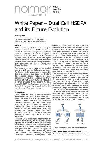 White Paper – Dual Cell HSDPA and its Future ... - Nomor Research