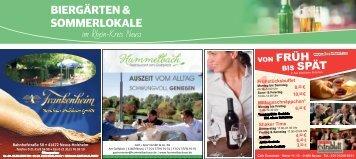 Biergärten und Sommerlokale im Rhein-Kreis Neuss  -08.06.2018-