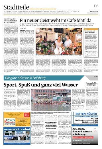 Die gute Adresse in Duisburg  -08.06.2018-