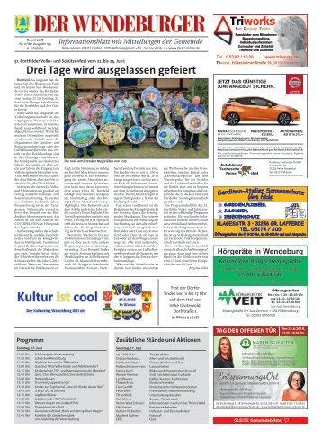 Der Wendeburger 08.06.18